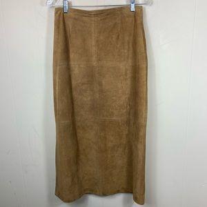 "80's Vintage Leather Suede Skirt 29"" Waist"